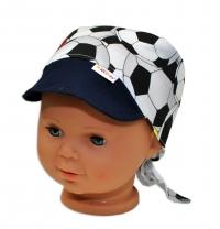 Baby Nellys Šátek na zavazování s kšiltem, vel. 44-46 - Fotbal