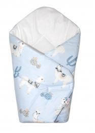 Baby Nellys  Novorozenecká zavinovačka Lama - modrá