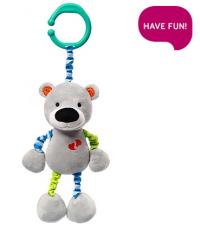BabyOno Závěsná hračka s vibrací a chrastítkem Bear Basil
