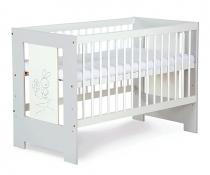 Postýlka Safari Zajíček - bílá/šedá  140x70