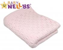 Háčkovaná dečka Baby Nellys ® - růžová