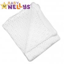 Háčkovaná dečka Baby Nellys ® - bílá