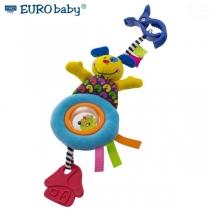 Plyšová hračka s klipsem a chrastítkem  - Pejsek