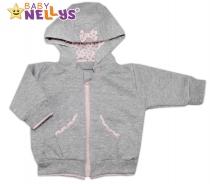 Mikinka s odepínací kapucí Baby Nellys® - PUNTÍKY…