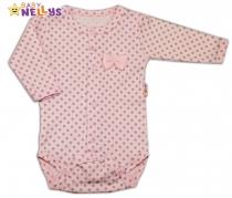 Body dlouhý rukáv Baby Nellys®- PUNTÍKY zapínání…