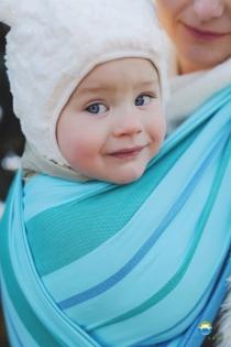 Little FROG  tkaný šátek na nošení dětí - LARIMAR