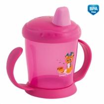 Hrneček Canpol Babies s tvrdým pítkem - růžový
