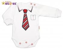 Body dlouhý rukáv Baby Nellys® s červenou…