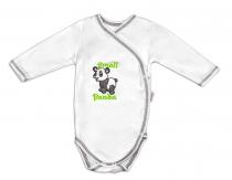 Body dlouhý rukáv zapínání bokem Mamatti - Panda
