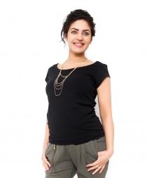 Těhotenské triko/halenka Celina - černá