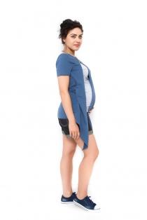 Těhotenská a kojící tunika Aida - tmavě modrá
