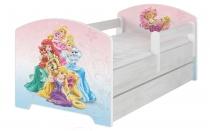 Dětská postel Disney s šuplíkem - Princess a…
