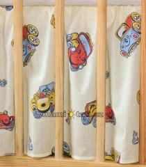 Krásný volánek pod matraci - Autíčka
