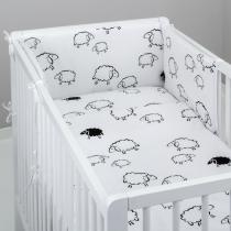 Mantinel s povlečením - Spící ovečky v bílé