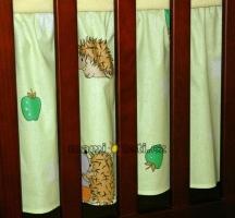 Krásný volánek pod matraci - Ježek zelený