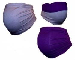 Těhotenský pás DUO - šedá s fialovou