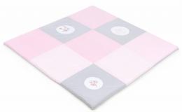 Hrací, přebalovací podložka 120x120cm - růžová s výšivkami