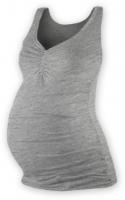 Těhotenský topík JOLANA - šedý melír