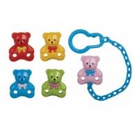 Řetízek na dudlík  - Medvídek růžový Canpol Babies