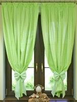 Krásné závěsy do pokojíčku - Kostička zelená