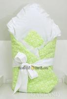 Luxusní zavinovačka s mašlí - Květinky v zelené