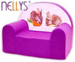 Dětské křesílko/pohovečka Nellys ® - Zajíčci