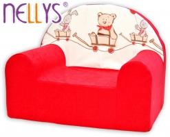 Dětské křesílko/pohovečka Nellys ® - Míša a zajíček