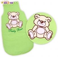 Spací vak TEDDY BEAR Baby Nellys - sv. zelený vel. 2