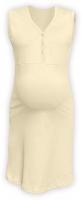 Těhotenská, kojící noční košile PAVLA bez rukávu - latte