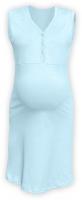 Těhotenská, kojící noční košile PAVLA bez rukávu - sv. modrá