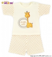 Triko krátký rukáv s kraťásky Baby Nellys ® Žirafka