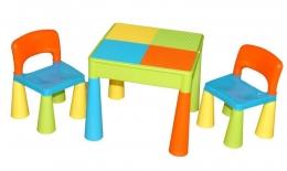 TEGA Sada nábytku pro děti - stoleček a 2 židličky - barevné