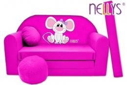 Rozkládací dětská pohovka Nellys ® Myška v růžovém