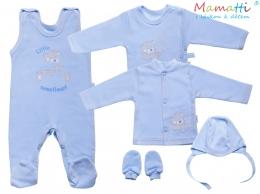 Souprava do porodnice v krabičce Mamatti - LITTLE SWEET HEART, modrá
