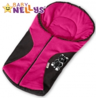 Fusák nejen do autosedačky Baby Nellys ® POLAR - amarantový medvídek