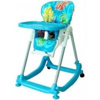 Jídelní stoleček BABY MIX - modrý s lístečky
