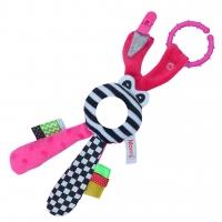 Edukační hračka Hencz s chrastítkem  - Zajíček - zrcátko -růžový