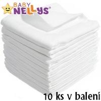 Kvalitní bavlněné pleny Baby Nellys - TETRA LUX 80x80cm, 10ks v bal.