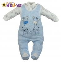 Dupačky a košilka Baby Nellys ® Giraffe - modrá