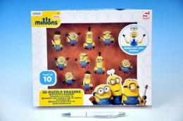 Puzzle Hlavolam 3D Mimoňové 10ks gumové postavičky v krabici 26x21x4cm