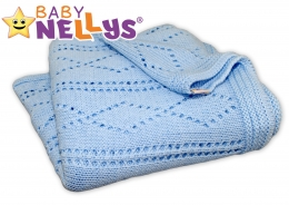 Háčkovaná dečka Baby Nellys ® - modrá