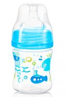 Antikoliková lahvička se širokým hrdlem Baby Ono - modrá