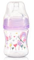 Antikoliková lahvička se širokým hrdlem Baby Ono - sv. fialová