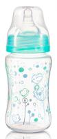 Antikoliková lahvička se širokým hrdlem Baby Ono - tyrkysová