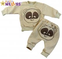 Tepláková souprava Baby Nellys ® - Medvídek - hnědý/béžový melír