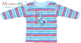 Tričko/košilka dlouhý rukáv Mamatti - ZEBRA  - sv. modrá/barevné pružky