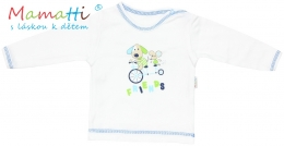 Tričko/košilka dlouhý rukáv Mamatti - DOG - bílé