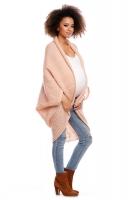Delší svetřík/pončo ELEN - světle růžový