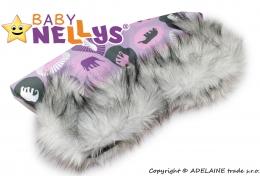 Rukávník ke kočárku s kožešinkou Baby Nellys ®LUX Eskymo - 04