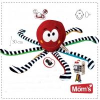 Edukační hračka s tlukotem srdce Hencz CHOBOTNIČKA - červená